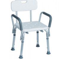 Krzesło pod prysznic z uchwytami bocznymi