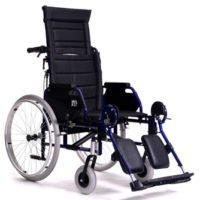 Wózek inwalidzki z odchylanym oparciem do 90°